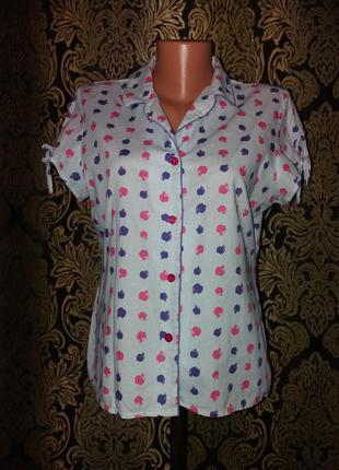 Хлопковая рубашка в яблоки можно беременным