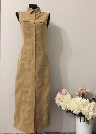Джинсовое платье рубашка макси tenson