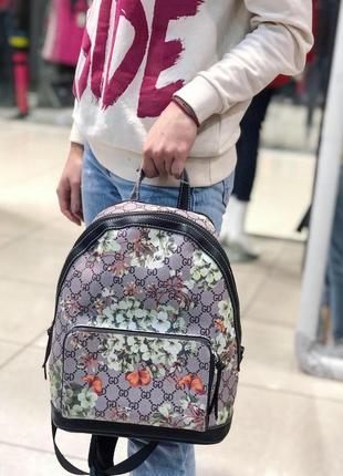 Рюкзак с монограммой и рисунком