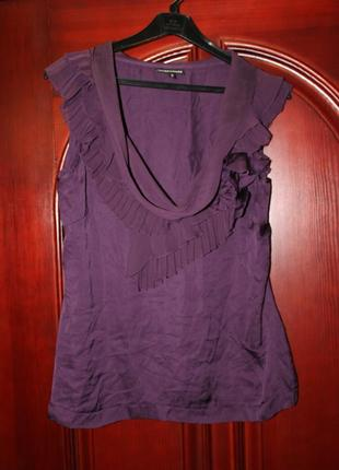 Блузка натуральный шелк 10, 38 размер от warehouse