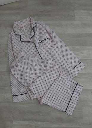 Розовая пижама  в горошек victoria's secret