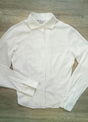 Белая итальянская рубашка loro piana