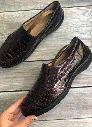 Ara лакированные мягкие туфли мокасины закрытые иуфли