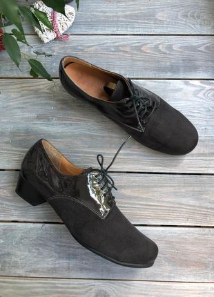 Elafor замшевые комфортные туфли на шнуровке