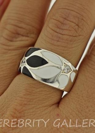 10% скидка подписчику кольцо серебряное i 100604 w.bk 18,5 серебро 925