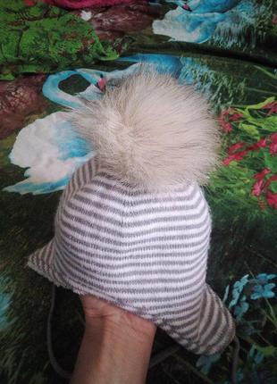 Зимняя шапочка для малыша