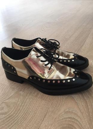 Туфли броги оксфорды ботинки zara