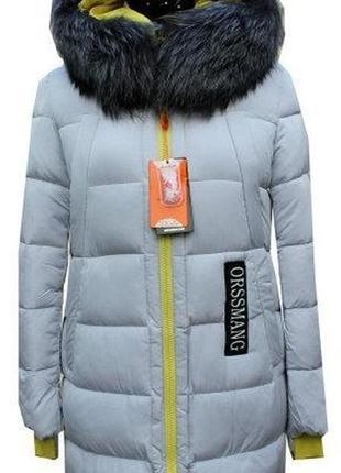 Зимняя молодежная удлиненная куртка