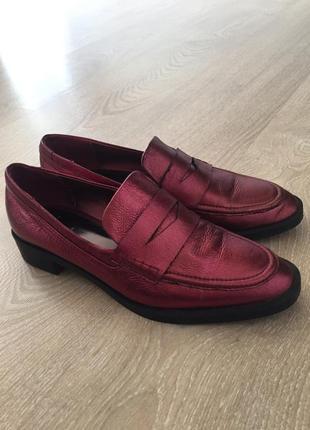 Лоферы туфли броги zara