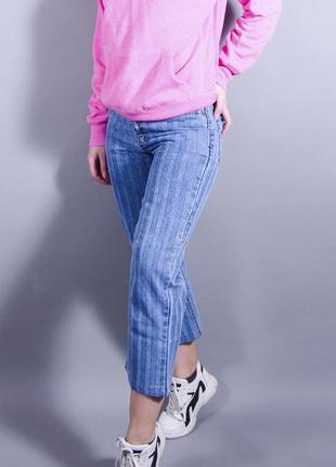 Джинсы мом в полоску, джинсы мом с высокой талией victoria garments