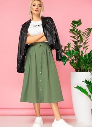 Модная юбка на пуговицах