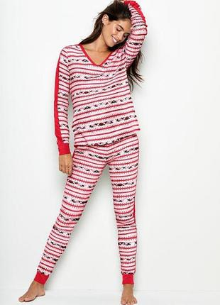 Тёплая пижама victoria's secret виктория сикрет