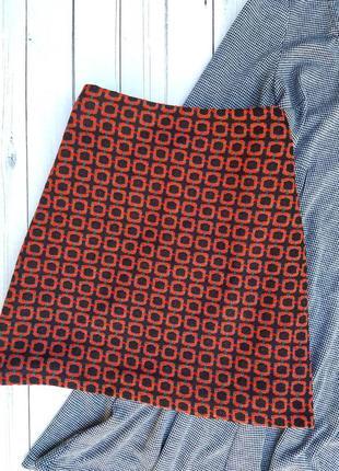 Теплая юбка в орнамент