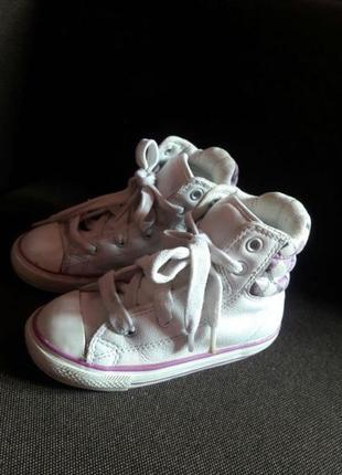 Демисезонные ботинки, кроссовки, кеды, девочке converse оригинал! кожа