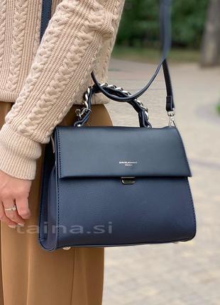 Клатч david jones cm5488t d. blue оригинал синяя кросс боди сумка