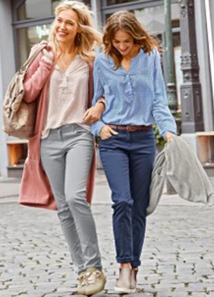 Серые котоновые штаны, чиносы 40 euro, blue motion германия, брюки