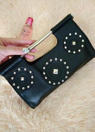 Симпатичная сумочка/клатч с оригинальными ручками