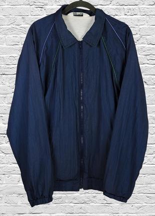Женская ветровка синяя, спортивная ветровка, женская куртка демисезонная