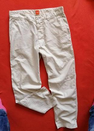 Брендовые мужские легкие брюки boss 50 в прекрасном состоянии