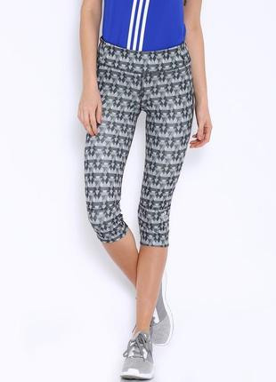 Улётные лосины (леггенсы) от adidas grey printed tights