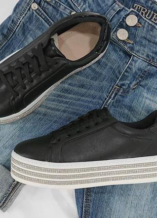 Кеды кроссовки чёрные