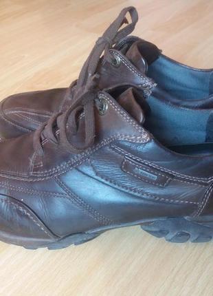 Мужские кожаные туфли 41р gore tex