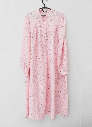 Шелковая ночнушка ночная рубашка сорочка с длинным рукавом