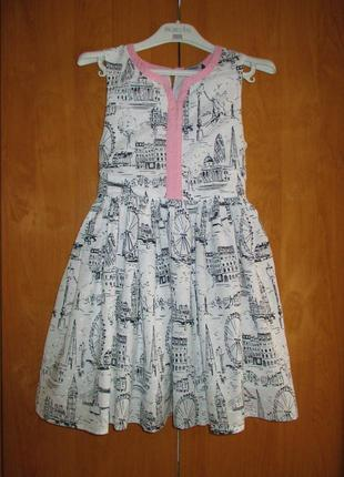 Нарядное летнее платье george, рост 135-140 см, 9-10 лет