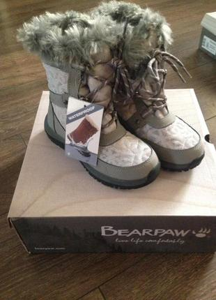 Детские зимние водонепроницаемые ботинки bearpaw marina