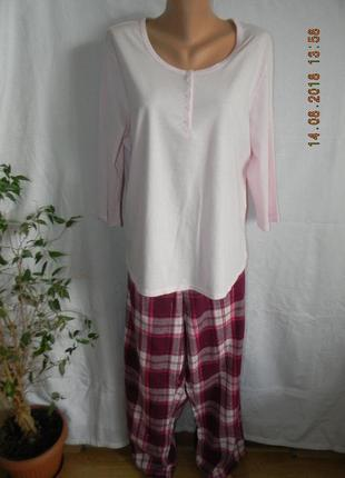 Новая натуральная пижама большого размера