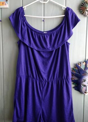 Ромпер, комбез с шортами фиолетового цвета