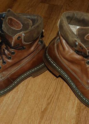 Кожаные утеплённые ботинки 41 р am shoe германия хорошее состояние