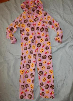 Слип пижама плюшевая кигурими человечек на девочку 6-7 лет