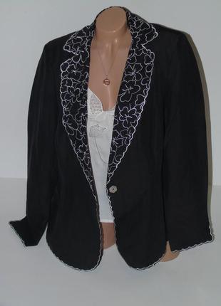 Шикарный пиджак /лен и шелк