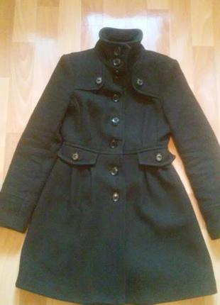Пальто mango шерстяное осень-зима