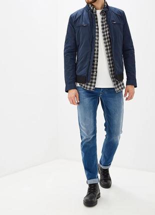 Куртка мужская демисезонная ветровка плащевка синяя diesel