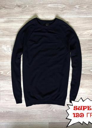 Кофта burton menswear (m) темно-синяя super цена
