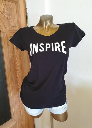Inspire новая черная футболка, супер качество и модель