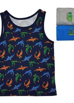 Разноцветные бельевые майки с драконами на мальчиков, primark