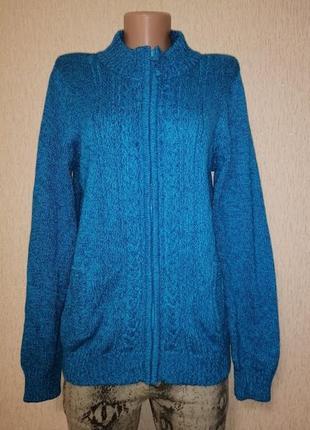 🔥🔥🔥теплая женская вязаная кофта, на молнии, джемпер, свитер isle essentials🔥🔥🔥