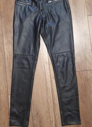 Кожаные штаны zara, эко-кожа зара