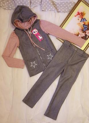 Неймовірні стильні якісні костюми тройки для дівчаток