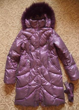 Пуховик new mark xs 40 12-14  лет холодная зима