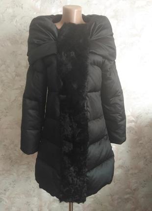 Шикарное пуховое пальто\жилет.