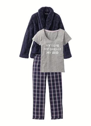 Xs(32-34 евр.) женская пижама с плюшевой кофтой от esmara