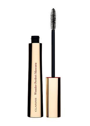 Тушь для ресниц удлиняющая и придающая объем clarins wonder perfect mascara 01 black