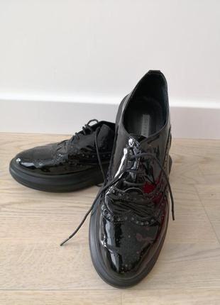 Туфли*броги*дизайнерские*fatyanova*кожанные*массивнаяподошва*