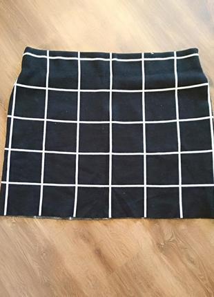 Тепленькая стильная юбка большого размера 60-62-64.