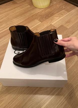 Ботинки челси кожаные sebago оригинал с коробкой натуральная кожа