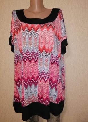 🔥🔥🔥красивая женская яркая трикотажная футболка, блузка 22 р. bm collection🔥🔥🔥